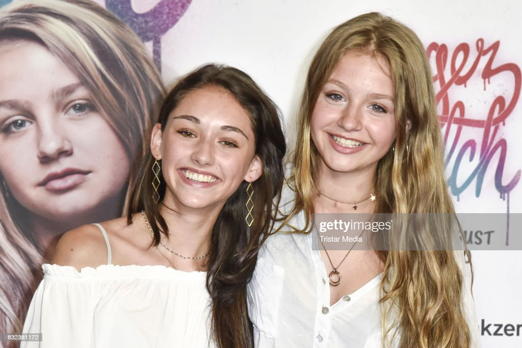 Flora Li Thiemann and Emily Kusche attend the 'Tigermilch' Premiere at Kino in der Kulturbrauerei on August 15, 2017 in Berlin, Germany.
