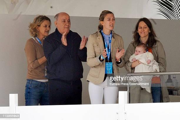 Flora Perez Amancio Ortega and Marta Ortega attend the Global Champions Tour 2011 on May 8 2011 in Valencia Spain