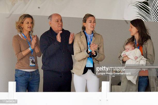 Flora Perez Amancio Ortega and Marta Ortega attends the Global Champions Tour 2011 on May 8 2011 in Valencia Spain