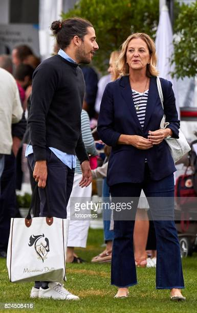 Flora Perez and Carlos Torretta attend during CSI Casas Novas Horse Jumping Competition on July 30 2017 in A Coruna Spain