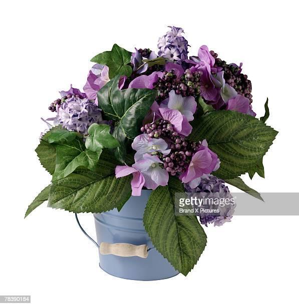 Floral arrangement of purple flowers