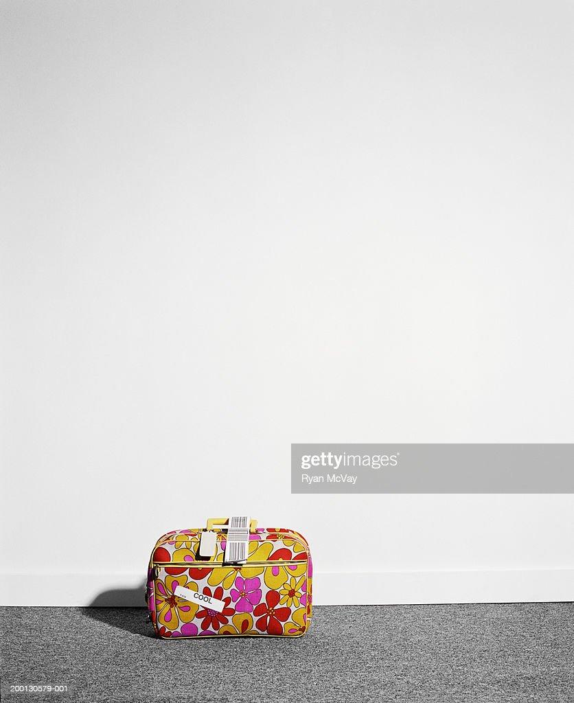Floral bag labelled 'cool'