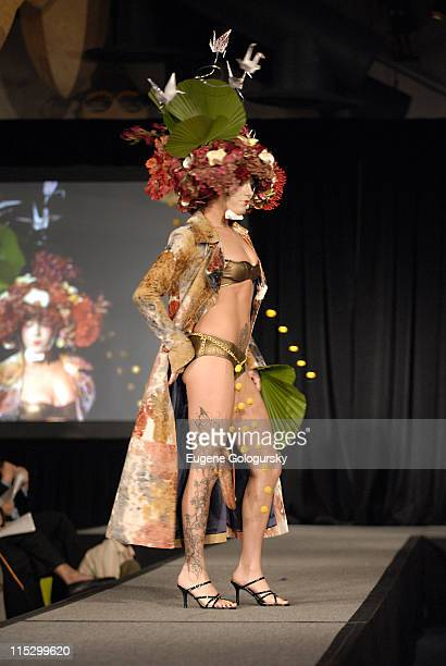 Floral Icon Events Model during The 5th Annual Tulips and Pansies ' The Headress Affair' at Bridgewaters in New York City New York United States