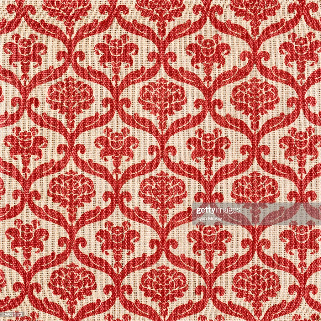 Floral Pattern on Woven Material : Stock Photo