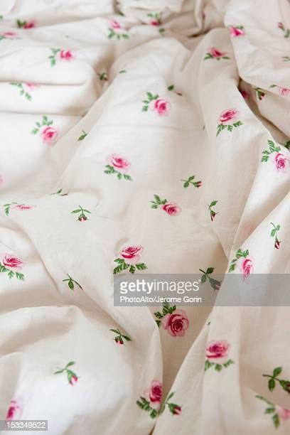 Floral patterned fabric, close-up