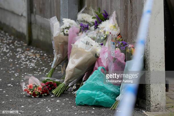 Floral tributes are placed near the scene in Cranbourne Rd ChorltoncumHardy where exRoyal Navy officer Michael Samwell was fatally injured as he...
