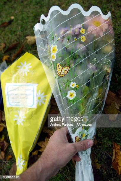 Floral tributes lay outside Birkbeck School in North Somercotes near Louth Lincolnshire following the stabbing of 14yearold pupil Luke Walmsley A...
