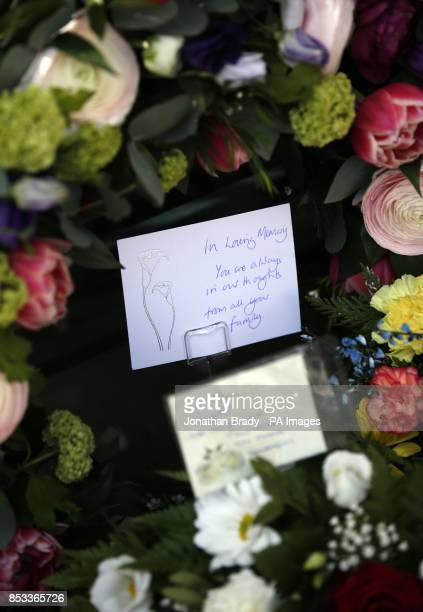 Floral tributes left during a memorial service held in St James Square London to mark the thirtieth anniversary of the death of WPC Yvonne Fletcher