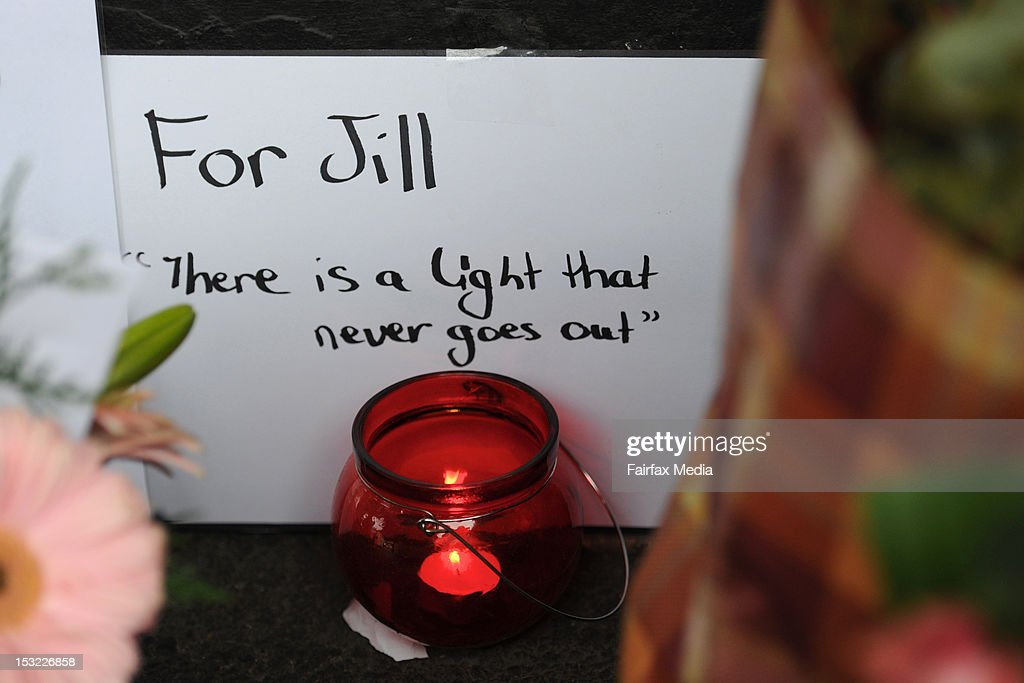 Floral tributes mark the spot on Sydney Road in Brunswick, Melbourne, where murdered Irish woman, Jill Meagher, was last seen alive, September 26 2012. Coburg man Adrian Ernest Bayley was charged with the murder and rape of Irish national Jill Meagher. Her body was found by police buried in a shallow grave north-west of Melbourne.