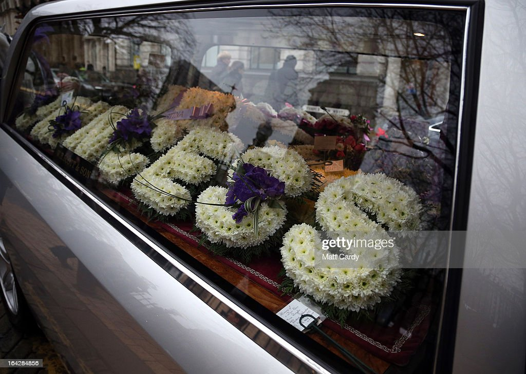 Floral wreaths spelling out the word 'princess' are transported for the funeral service for Christina Edkins at St Phillips Cathedral on March 22, 2013 in Birmingham, England. Hundreds of people attended the service for the teenager, who was stabbed to death on a bus in Birmingham. Leasowes High School, in Halesowen, where the 16-year-old was a pupil, was closed today to allow children and staff to join her family at the service