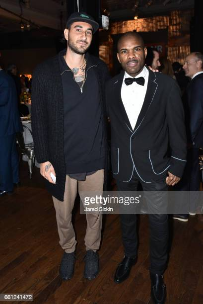 Flore and Keino Benjamin attend the First Annual Medair Gala at Stephan Weiss Studio on March 30 2017 in New York City