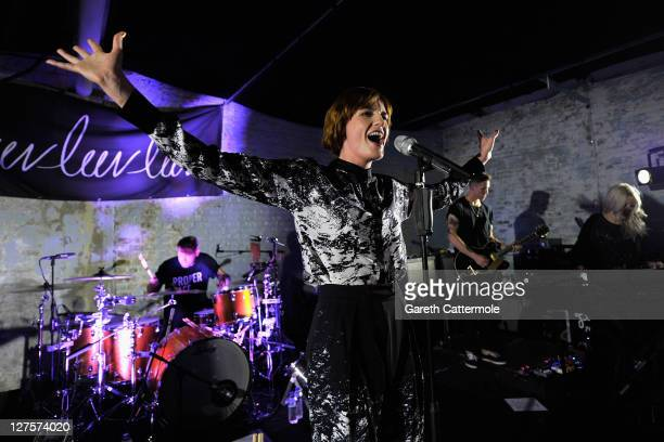 Florence and the Machine perform on stage during the Luv Luv Luv Records Party presented by Red Bull Studios at MC Motors on September 29 2011 in...