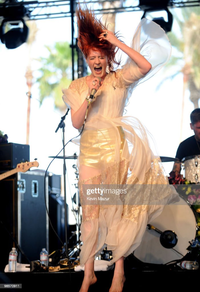 Florence and the Machine performs during the Day 3 of the Coachella Valley Music & Arts Festival 2010 at the Empire Polo Field on April 18, 2010 in Indio, California.
