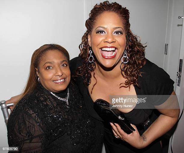 Florence Anthony and Kim Coles attend a celebration of African American Oscar winners and nominees at Luxe Hotel on March 6 2010 in Los Angeles...