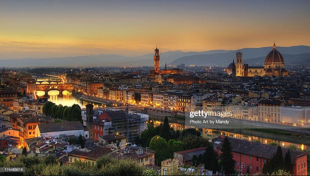 Florence at dusk