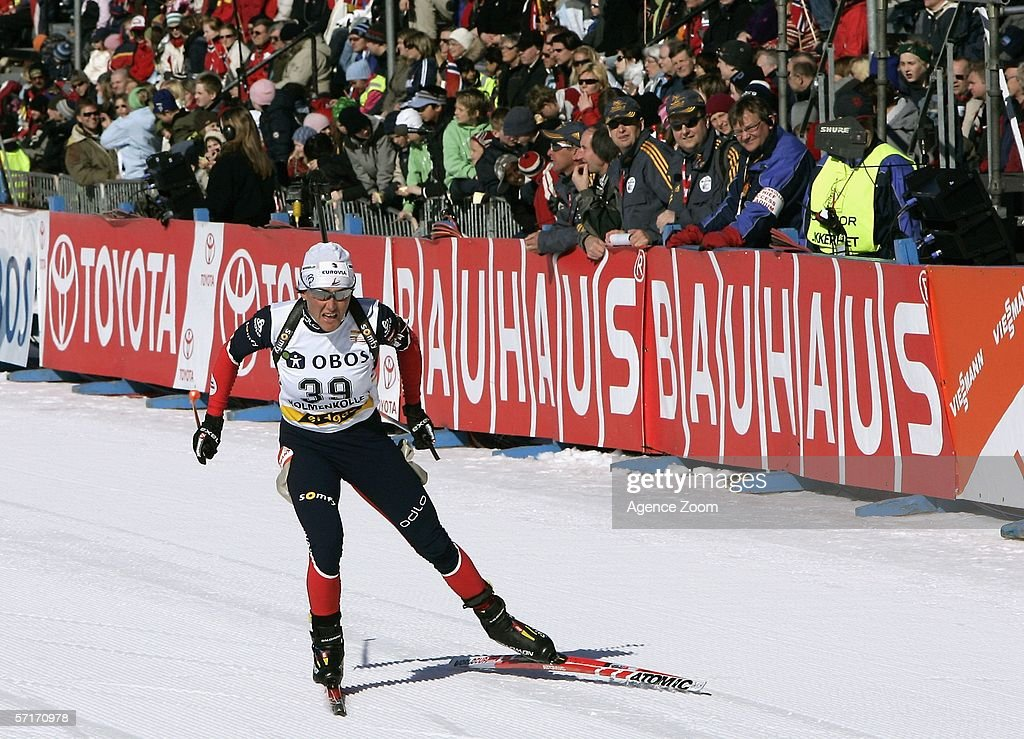 Florence Baverel Robert of France in action during the IBU Biathlon World Cup Women's 7,5km Sprint on March 23, 2006 in Holmenkollen, Norway.