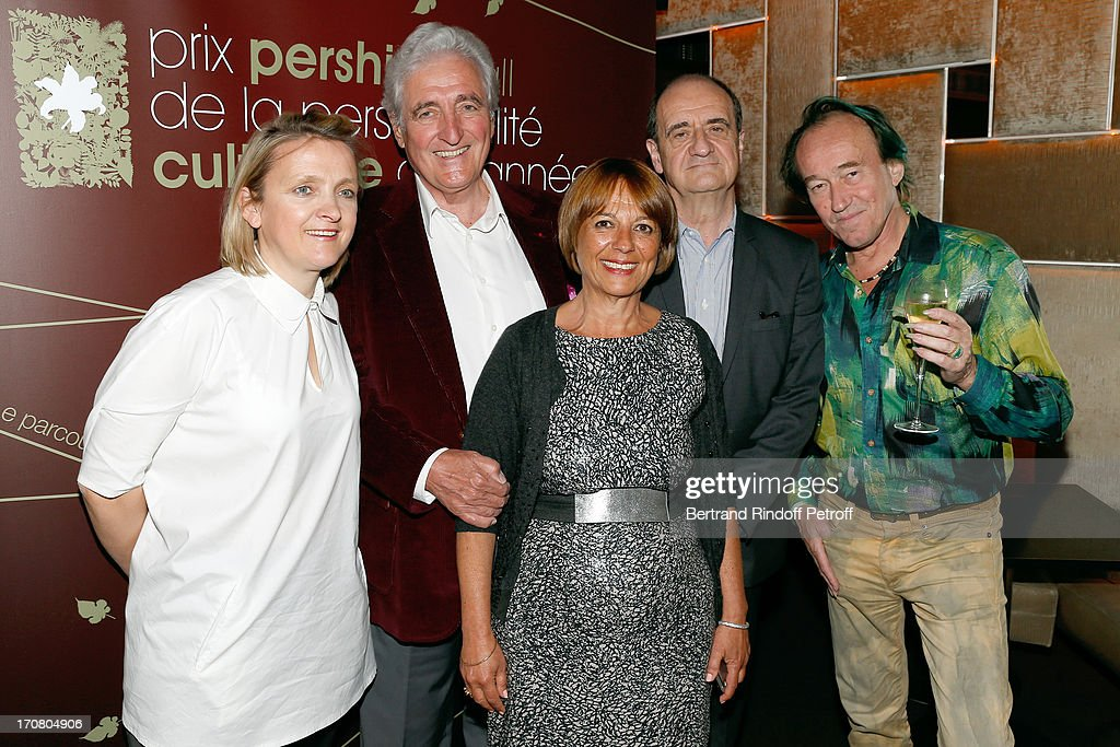 Florence Berthout, Jean-Loup Dabadie, Eva Essayag, PierreLescure and Patrick Blanc attend the Jury of the Price of the Cultural Personality of the year portrait session at Hotel Pershing Hall on June 18, 2013 in Paris, France.