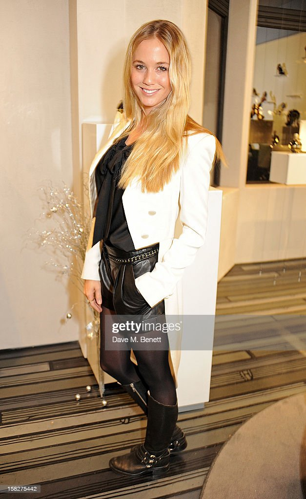 Florence Brudenell-Bruce attend a Christmas drinks hosted by designer Nicholas Kirkwood to celebrate his partnership with Chambord black raspberry liquer, and launch the limited edition shoe 'The Chambord' at the Nicholas Kirkwood Mount Street store on December 12, 2012 in London, England.