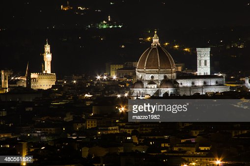 Florence by Night : Stock Photo