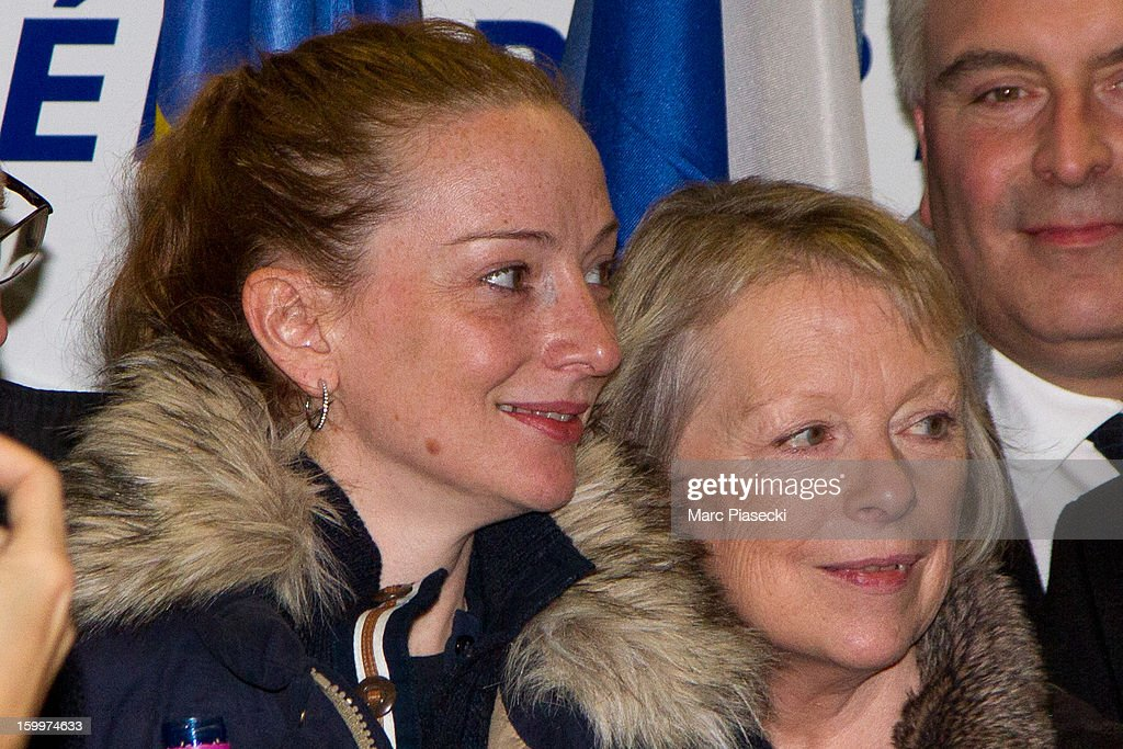 Florence Cassez and her mother Charlotte attend a Press conference following her release from prison in Mexico at CharlesdeGaulle airport on January...