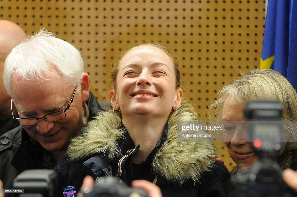 <a gi-track='captionPersonalityLinkClicked' href=/galleries/search?phrase=Florence+Cassez&family=editorial&specificpeople=567195 ng-click='$event.stopPropagation()'>Florence Cassez</a> and her parents pose after a press conference at the Roissy airport on January 24, 2013 in Paris, France. A Supreme Court in Mexico has voted to free <a gi-track='captionPersonalityLinkClicked' href=/galleries/search?phrase=Florence+Cassez&family=editorial&specificpeople=567195 ng-click='$event.stopPropagation()'>Florence Cassez</a>, 38, from France who was serving out a 60-year sentence for kidnapping. The decision was made after it was decided her rights were violated by a television broadcast of a staged raid on the kidnappers by the police when in fact the alleged kidnappers, including Cassez, were arrested the previous day on a highway.