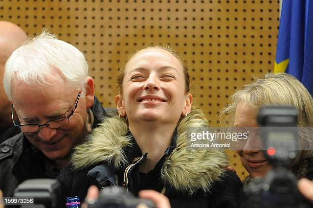 Florence Cassez and her parents pose after a press conference at the Roissy airport on January 24 2013 in Paris France A Supreme Court in Mexico has...