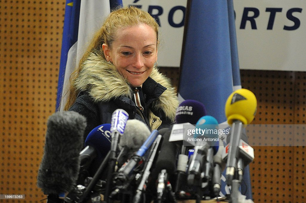 <a gi-track='captionPersonalityLinkClicked' href=/galleries/search?phrase=Florence+Cassez&family=editorial&specificpeople=567195 ng-click='$event.stopPropagation()'>Florence Cassez</a> arrives for a press conference at the Roissy airport on January 24, 2013 in Paris, France. A Supreme Court in Mexico has voted to free <a gi-track='captionPersonalityLinkClicked' href=/galleries/search?phrase=Florence+Cassez&family=editorial&specificpeople=567195 ng-click='$event.stopPropagation()'>Florence Cassez</a>, 38, from France who was serving out a 60-year sentence for kidnapping. The decision was made after it was decided her rights were violated by a television broadcast of a staged raid on the kidnappers by the police when in fact the alleged kidnappers, including Cassez, were arrested the previous day on a highway.