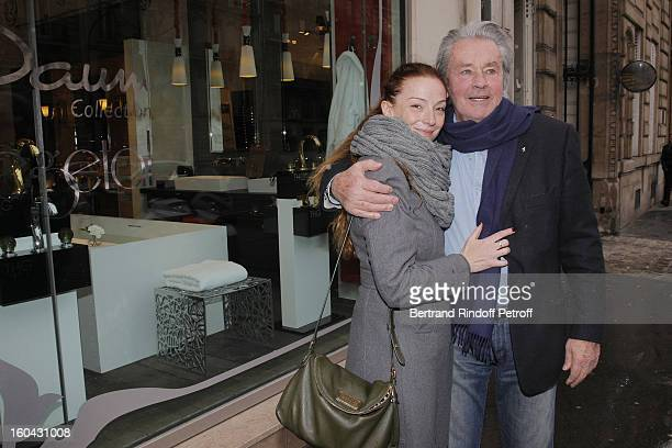 Florence Cassez meets Alain Delon on January 31 2013 in Paris France