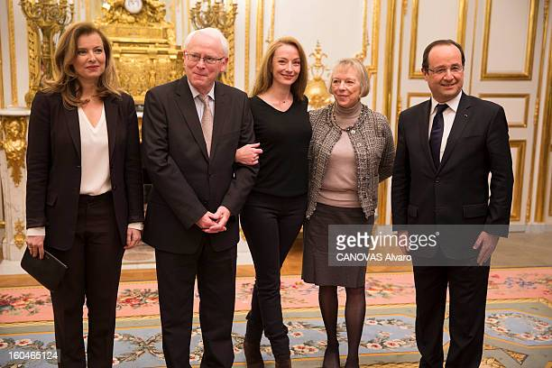 Florence Cassez who has spend 7 years in jail in Mexico and released by the Mexican Supreme Court visits the Palais de l'Elysee meets with President...