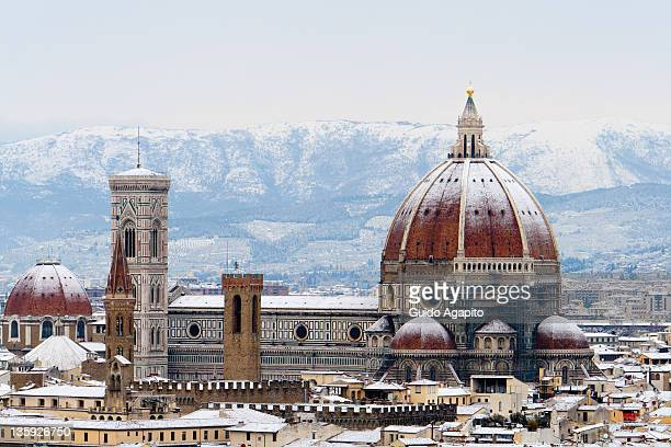 Florence Cathedral under snow