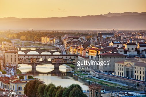 Florence cityscape at the evening, Italy