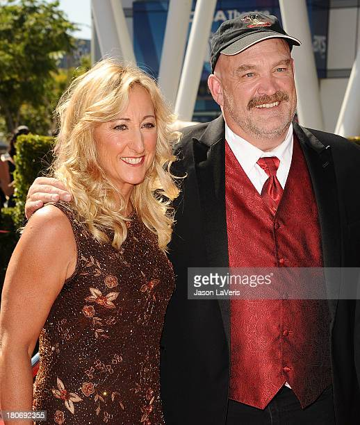 Florence Colburn and Keith Colburn attend the 2013 Creative Arts Emmy Awards at Nokia Theatre LA Live on September 15 2013 in Los Angeles California
