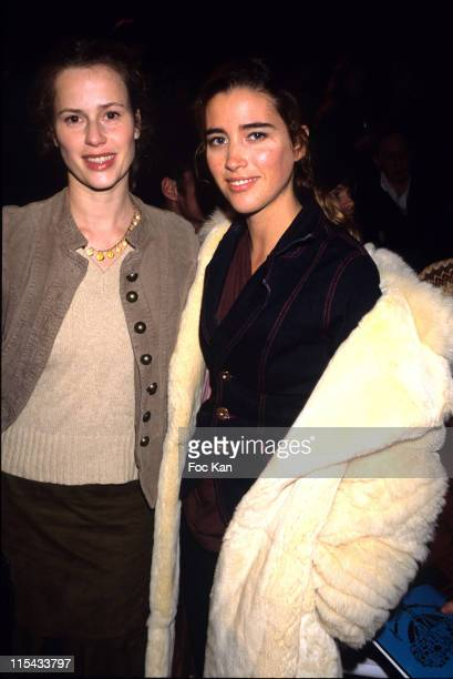 Florence Darel and Vahina Giocante during Paris Fashion Week Autumn/Winter 2006 Ready to Wear Christian Lacroix Front Row at Ecole des Beaux Arts in...