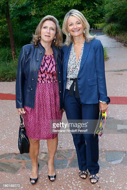 Florence de Botton and Sandra Manasse attend 'Friends of Quai Branly Museum Society' dinner party at Musee du Quai Branly on September 9 2013 in...