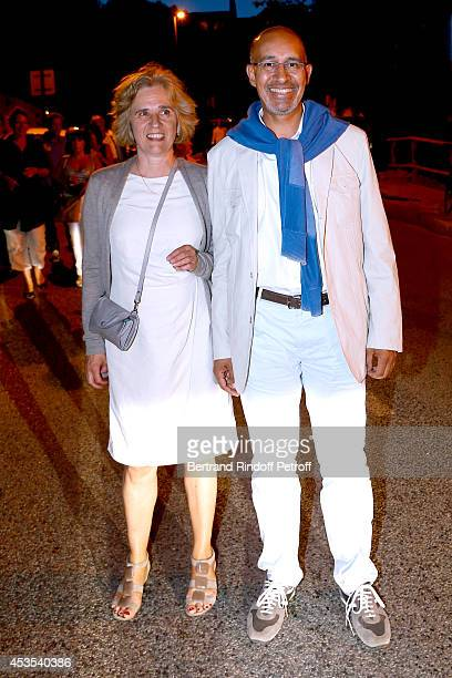 Florence de Chalonge and Secretary of State for European Affairs Harlem Desir attend the Michel Boujenah's show 'Ma vie revee' for the last evening...