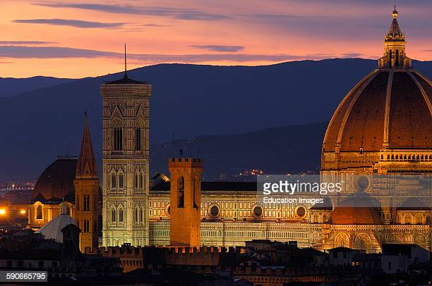 Florence Duomo Cathedral at Dusk Santa Maria del Fiore cathedral Tuscany Italy Europe