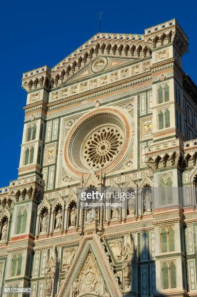 Florence Duomo Cathedral Santa Maria del Fiore cathedral Piazza del Duomo Duomo square Tuscany Italy Europe