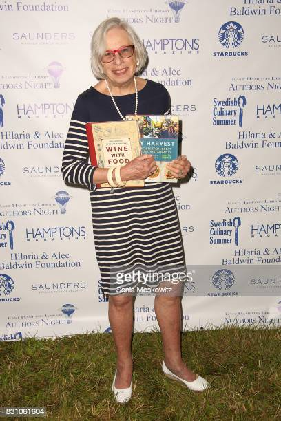 Florence Fabricant attends Author's Night 2017 to benefit the East Hampton Library on August 12 2017 in East Hampton New York