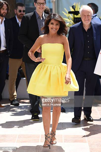 Florence Foresti attends a photocall for 'The Little Prince' during the 68th annual Cannes Film Festival on May 22 2015 in Cannes France
