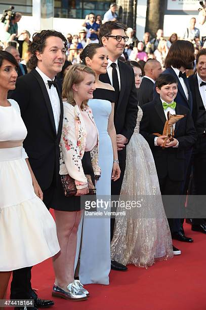 Florence Foresti Guillaume Gallienne Clara Pointacre Marion Cotillard Mark Osborne Mackenzie Foy Riley Osborne and Dimitri Rassam attend the 'Little...