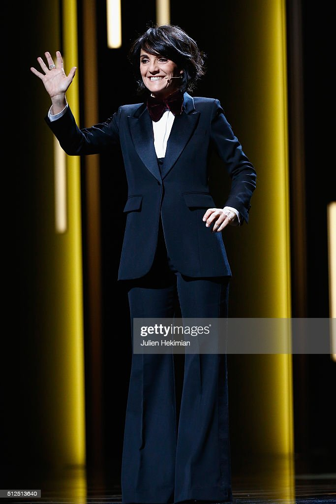 <a gi-track='captionPersonalityLinkClicked' href=/galleries/search?phrase=Florence+Foresti&family=editorial&specificpeople=4946831 ng-click='$event.stopPropagation()'>Florence Foresti</a> on stage during The Cesar Film Award 2016 at Theatre du Chatelet on February 26, 2016 in Paris, France.