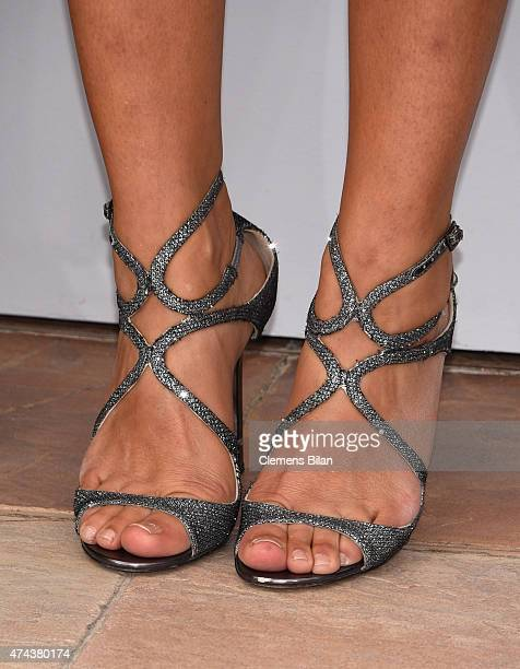 Florence Foresti shoe detail attends a photocall for 'The Little Prince' during the 68th annual Cannes Film Festival on May 22 2015 in Cannes France
