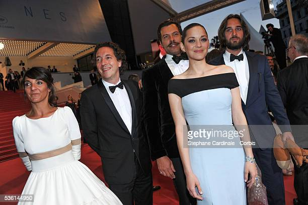 Florence Forestier Guillaume Galienne Laurent Lafitte Dimitri Rassam and Marion Cotillard attend the Premiere of 'The little Prince' during the 68th...