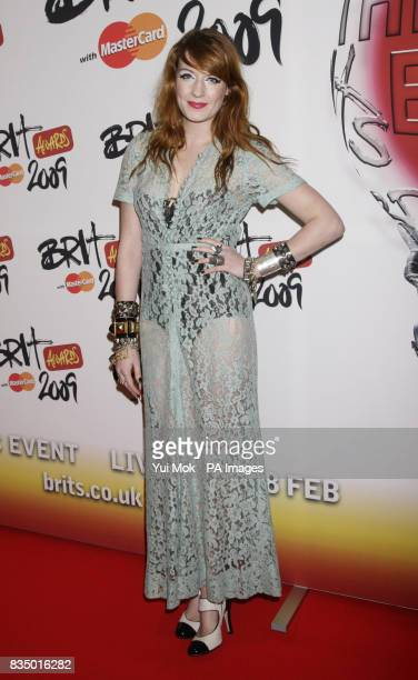 Florence from Florence and the Machine arriving for the Brit Awards shortlist announcement at the Roundhouse in London