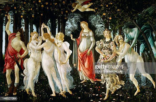 Florence Galleria Degli Uffizi Allegory of Spring ca 14771490 by Sandro Botticelli tempera on wood 203x314 cm