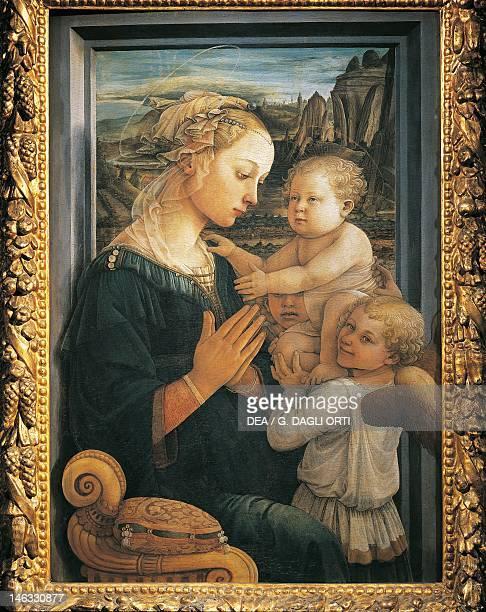 Florence Galleria Degli Uffizi Madonna and Child with Angels ca 1465 by Filippo Lippi tempera on panel 92x635 cm