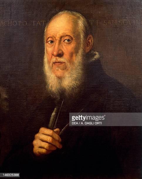 Florence Galleria Degli Uffizi Portrait of Jacopo Sansovino by Jacopo Robusti known as Tintoretto oil on canvas 70x65 cm