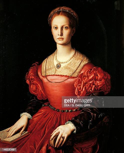 Florence Galleria Degli Uffizi Portrait of Lucrezia Panciatichi by Agnolo Bronzino oil on canvas 102x85 cm