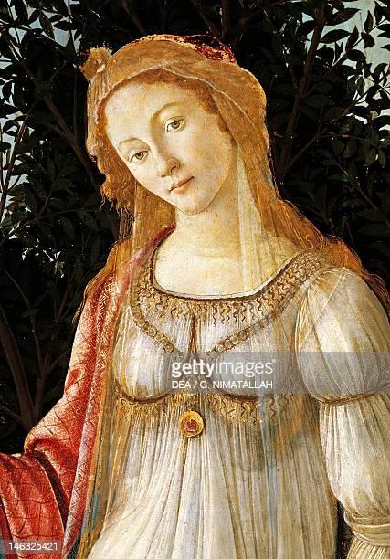 Florence Galleria Degli Uffizi Spring ca 1482 Sandro Botticelli tempera on wood 203x314 cm Detail