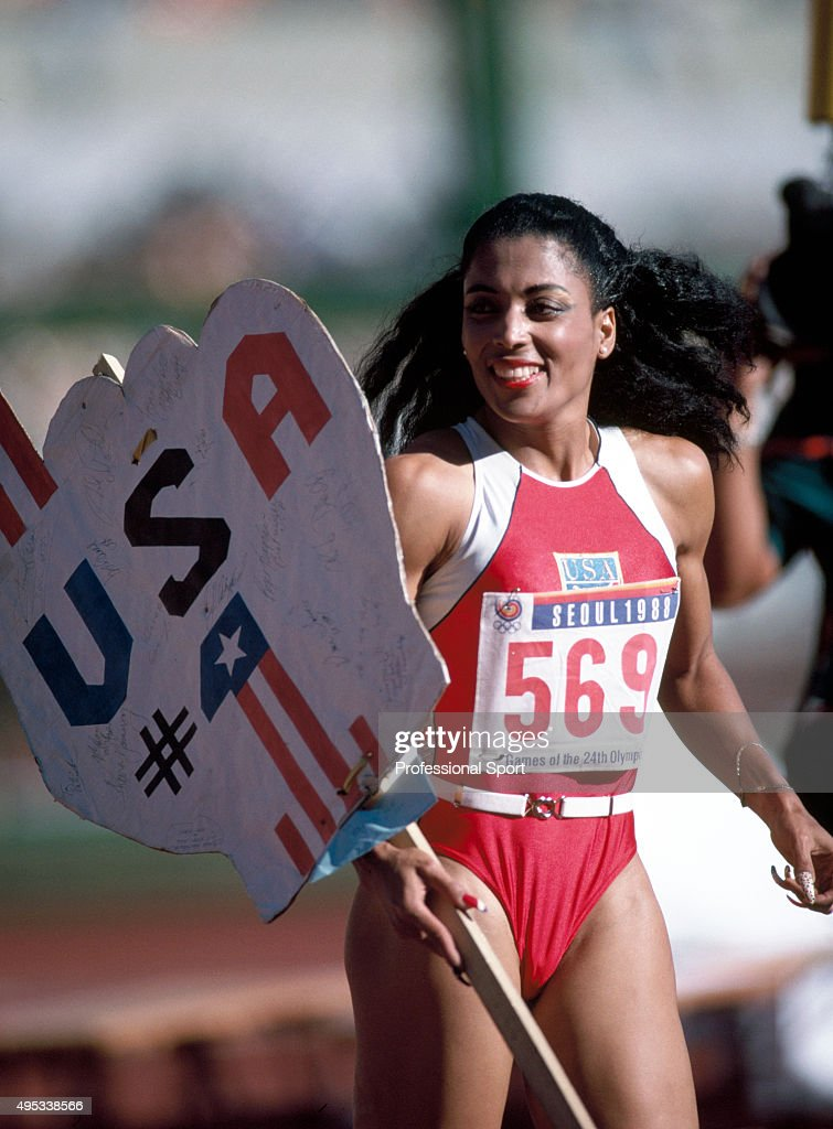 Florence (AL) United States  City new picture : Florence Griffith Joyner of the United States after winning the women ...